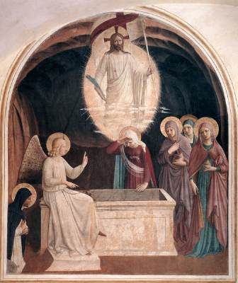 fra angelico resurrection  women